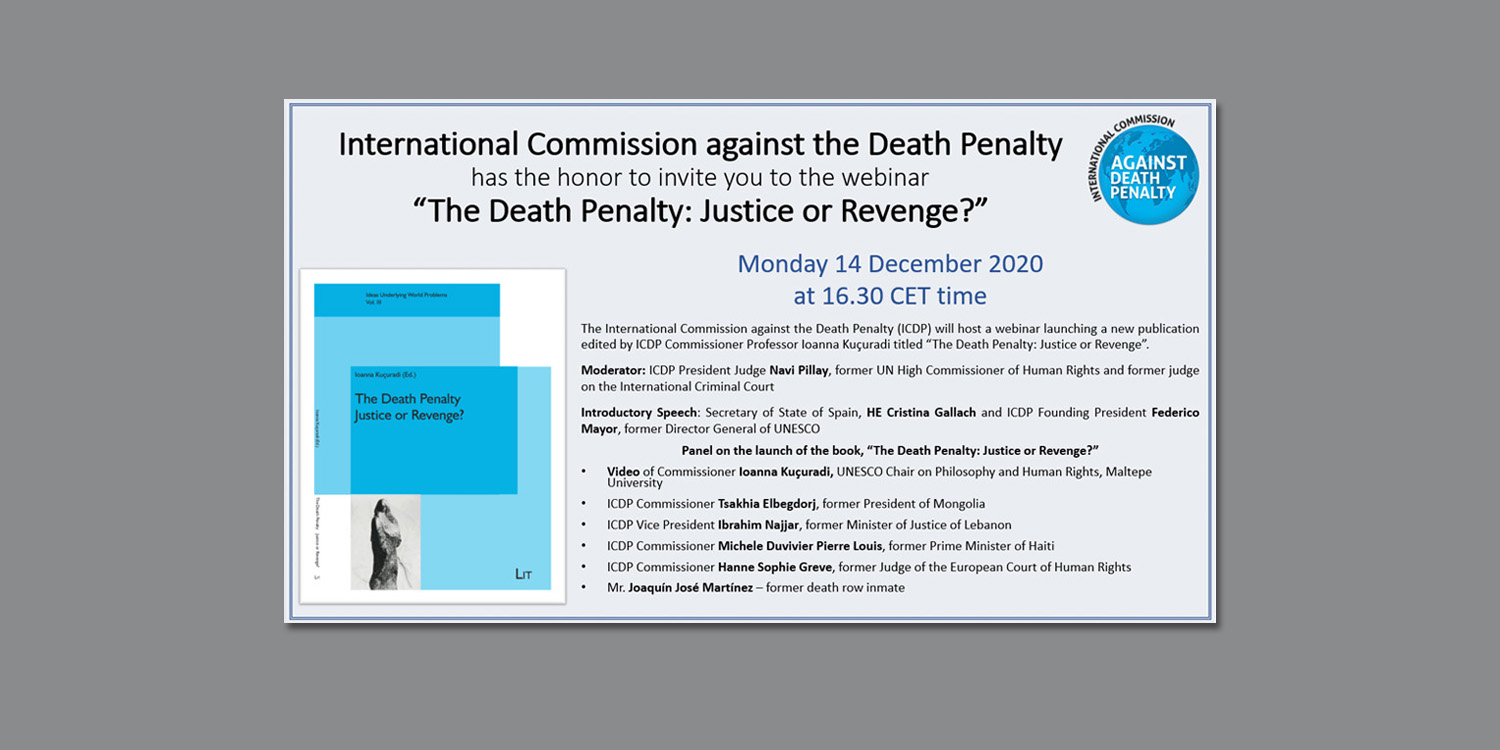 Commission against the Death Penalty webinar